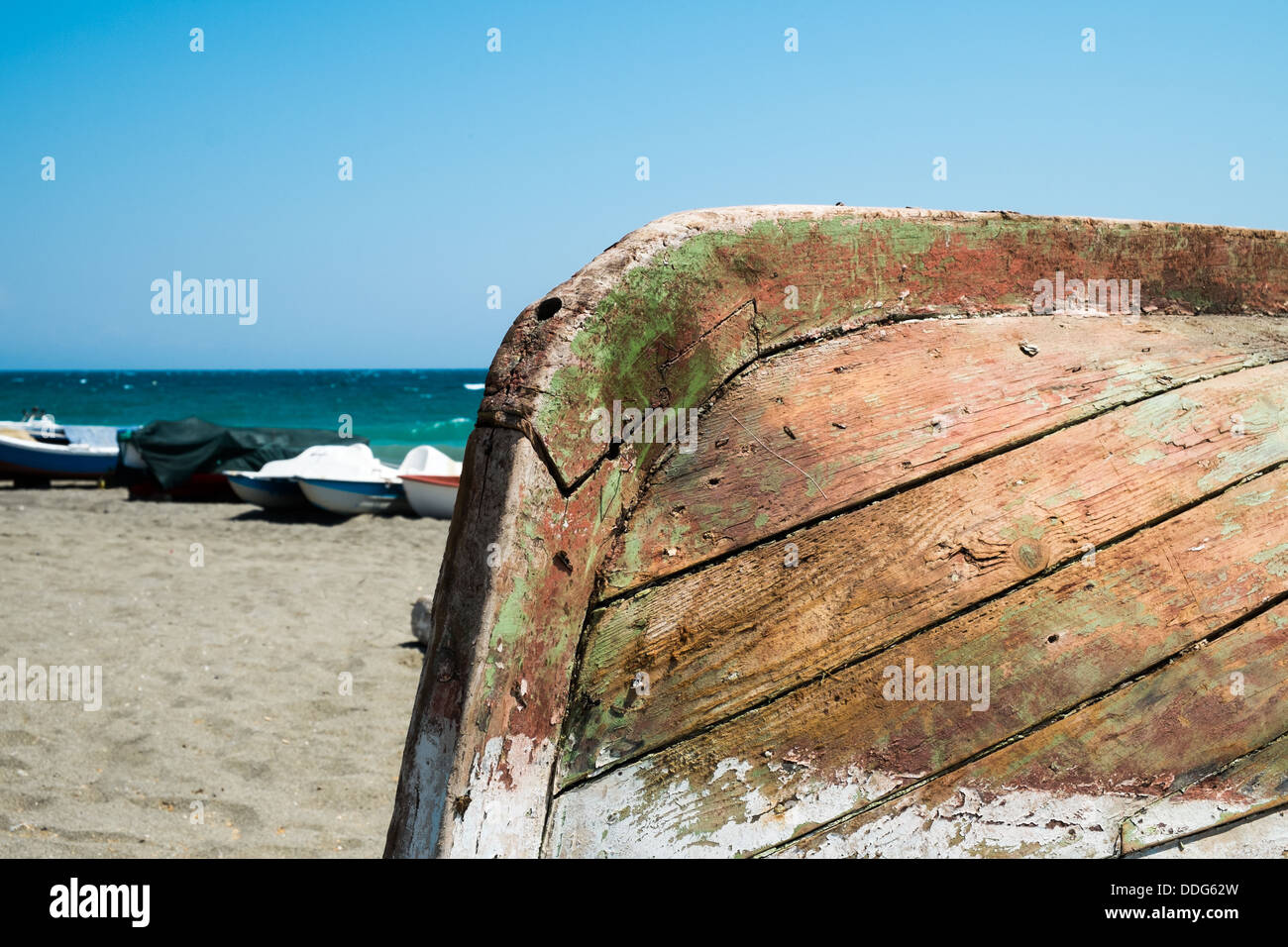 boat on beach - Stock Image
