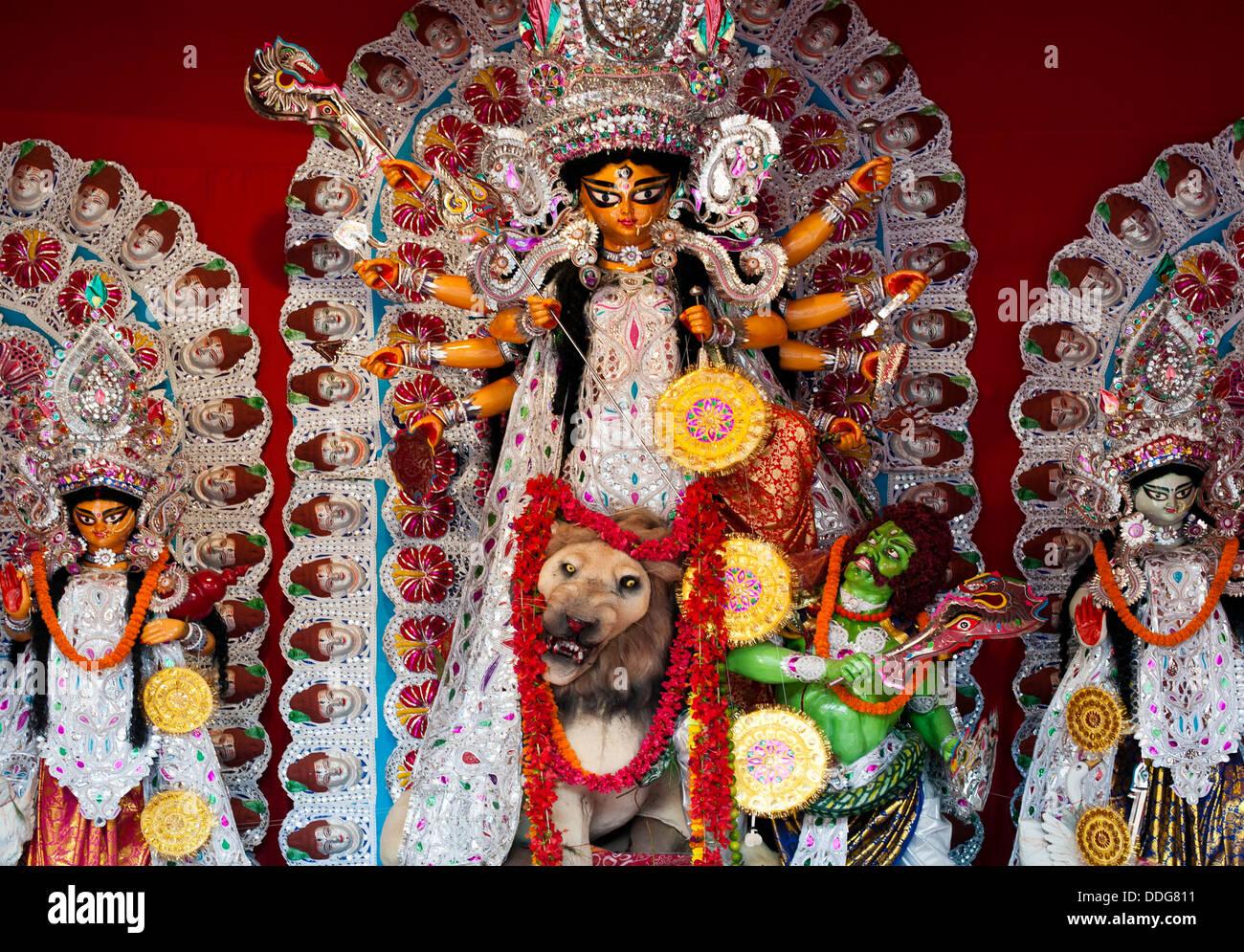 Pandal stock photos pandal stock images alamy goddess durga durga puja pandal kolkata india stock image altavistaventures Choice Image