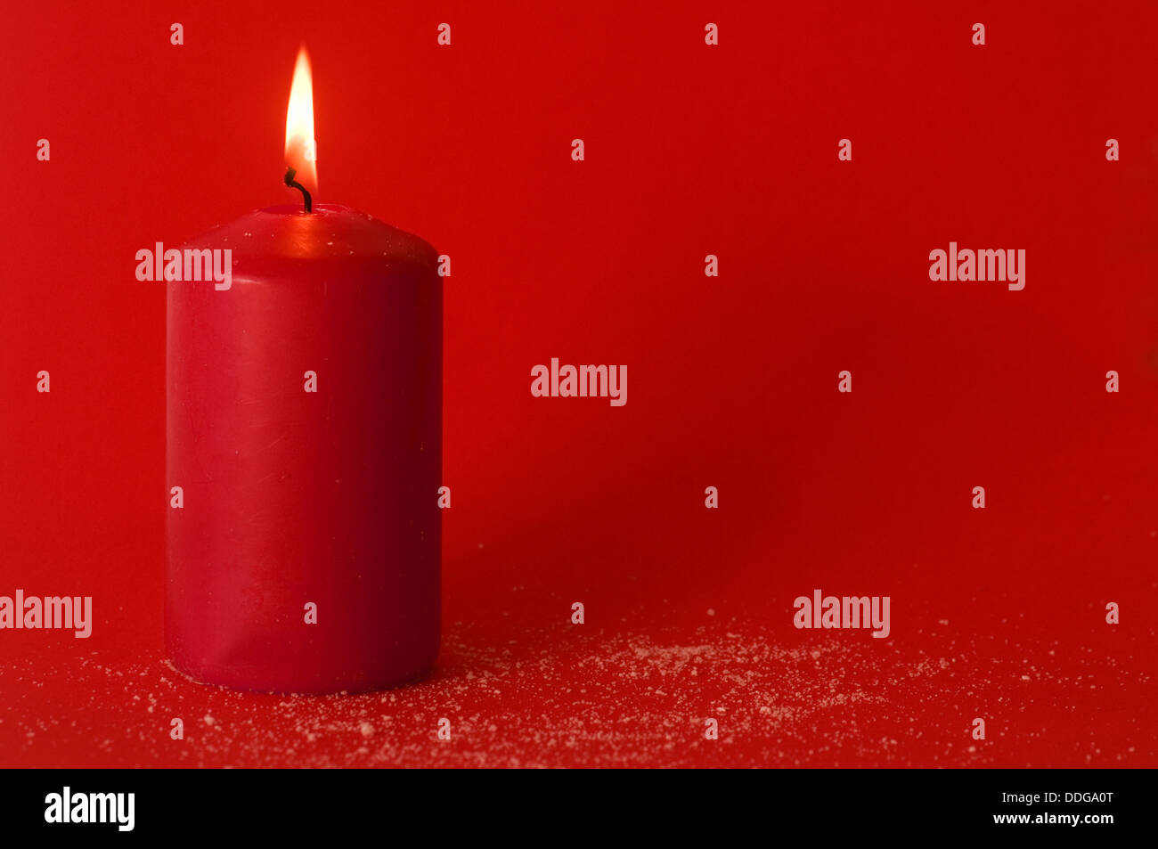 Red candle - Stock Image