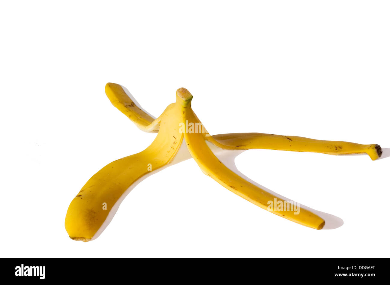 Banana peel - Stock Image