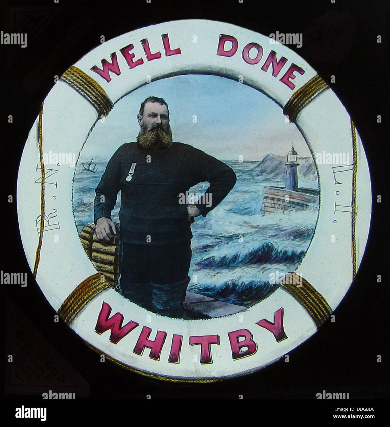 Whitby Lifeboatman Henry Freeman Victorian period - Stock Image