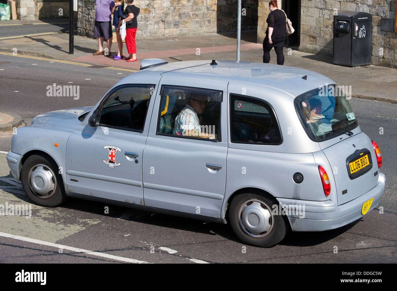 Taxi Hackney Carriage working in the city of York North Yorkshire England UK - Stock Image