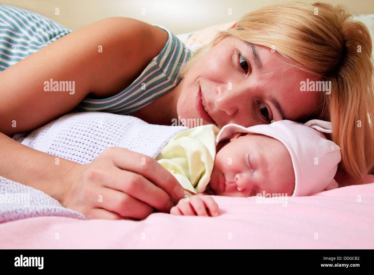 Mother with babe Stock Photo