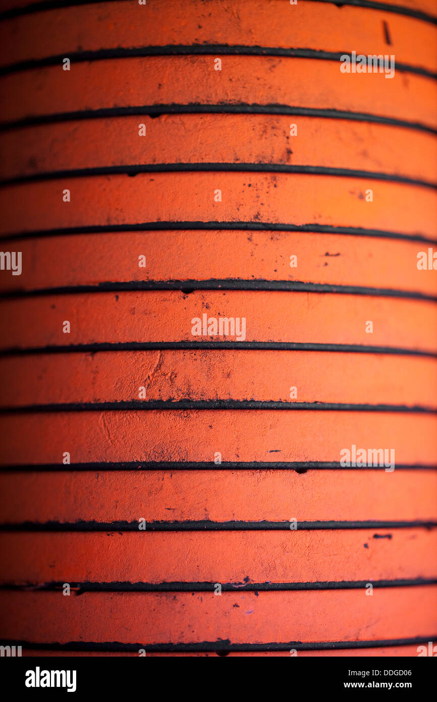 A stack of clay targets, or clay pigeons, at a trap and skeet range in Bella Vista, Ark. - Stock Image
