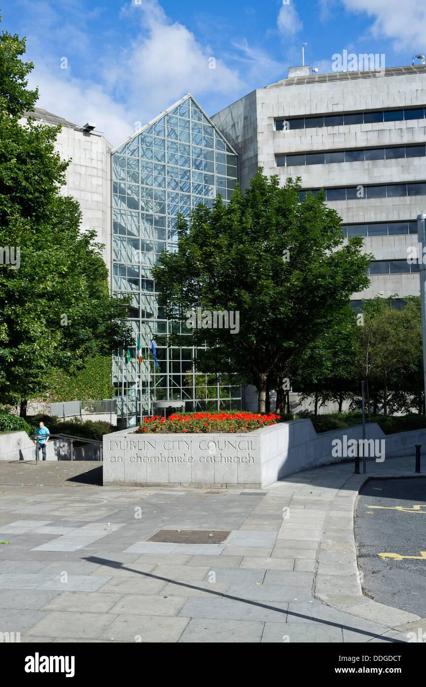 Dublin city council offices on Wood Quay, Dublin, Ireland - Stock Image