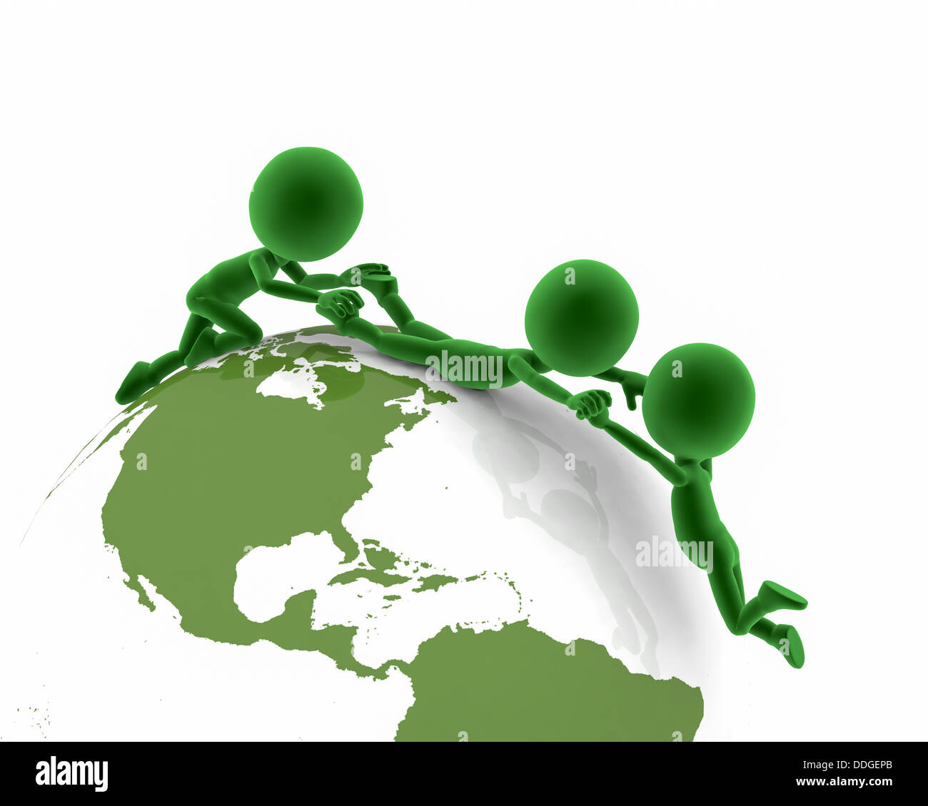 Global assistance / international aid / communication / green / environment / collaboration / working together concept - Stock Image