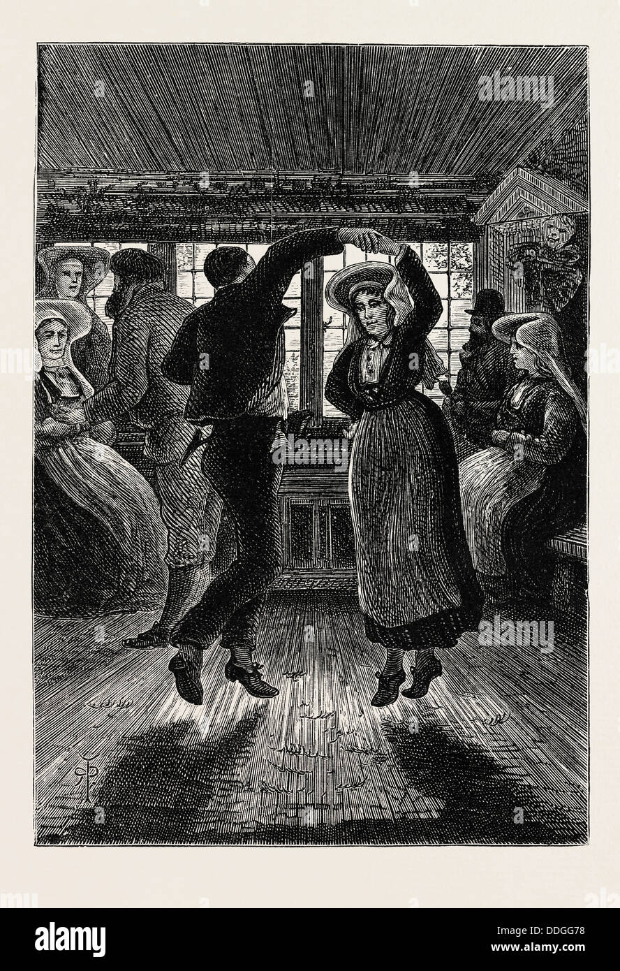 THE SPRING DANCE - Stock Image