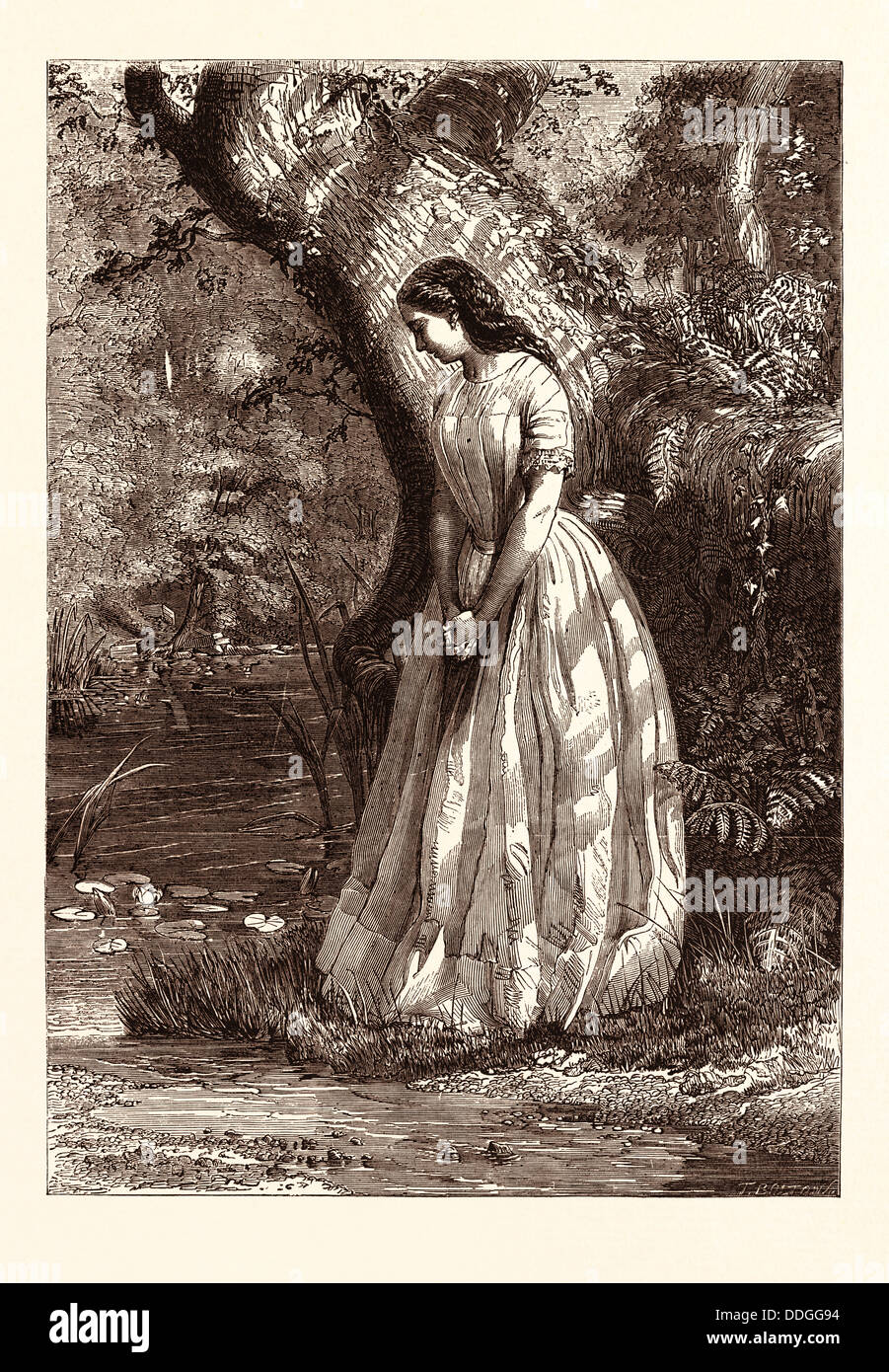 MAIDENHOOD  PAINTED BY G.E. HICKS - Stock Image