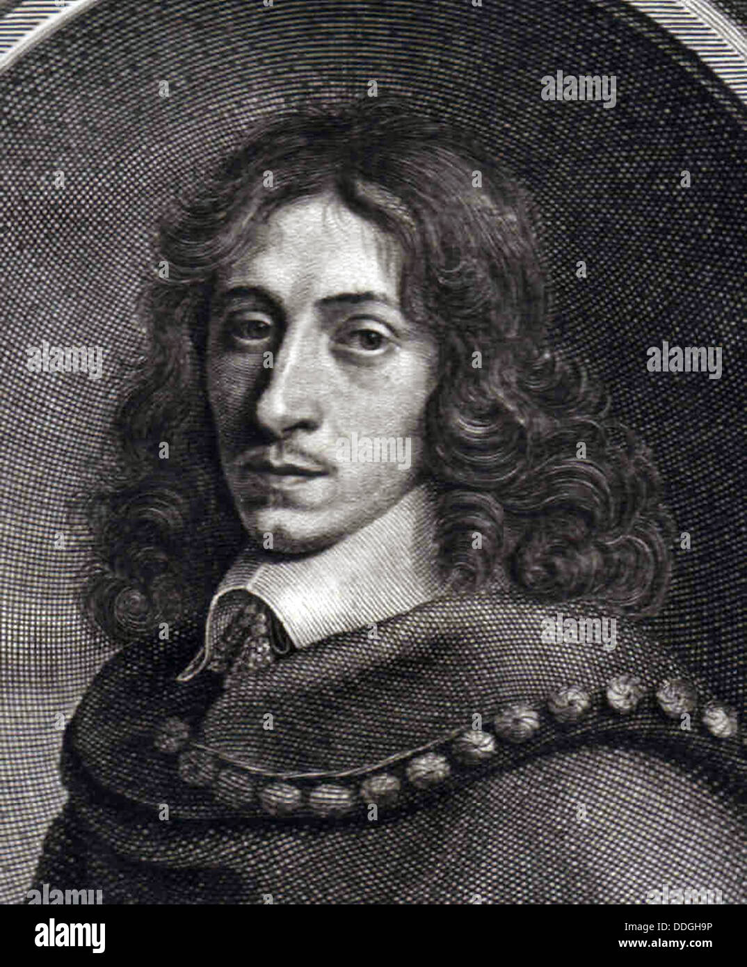 John Evelyn 1651 - Stock Image