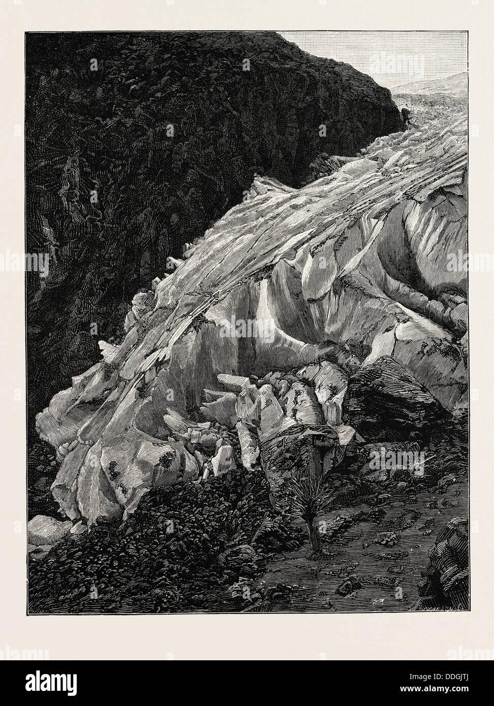 THE BUARBAE GLACIER - Stock Image