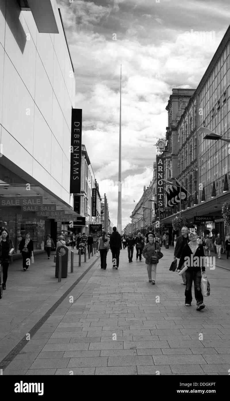 The millenium Spire in Dublin - Stock Image