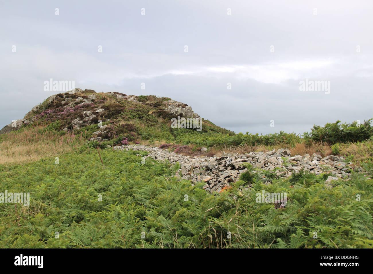 Garn Fawr Iron Age Hillfort, Pen Caer peninsula, Pembrokeshire, Wales, Great Britain, United Kingdom, UK, Europe - Stock Image