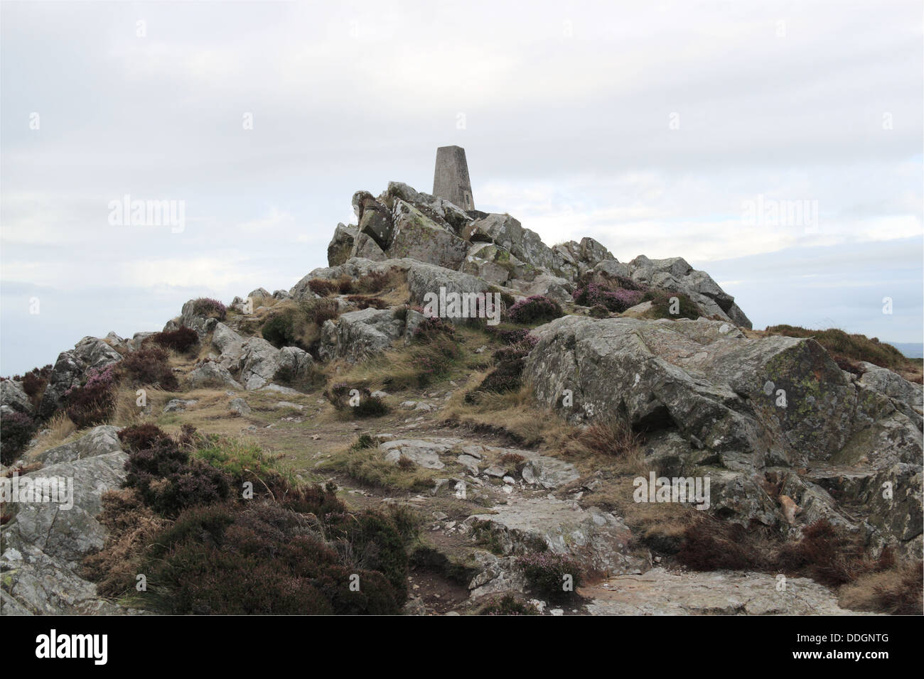 Highest point of Garn Fawr Iron Age Hillfort, Pen Caer peninsula, Pembrokeshire, Wales, Great Britain, United Kingdom, - Stock Image