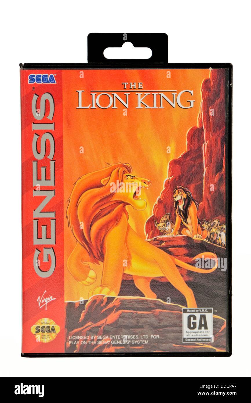 "Vintage Sega Genesis (Mega Drive) ""The Lion King"" video game Stock Photo"