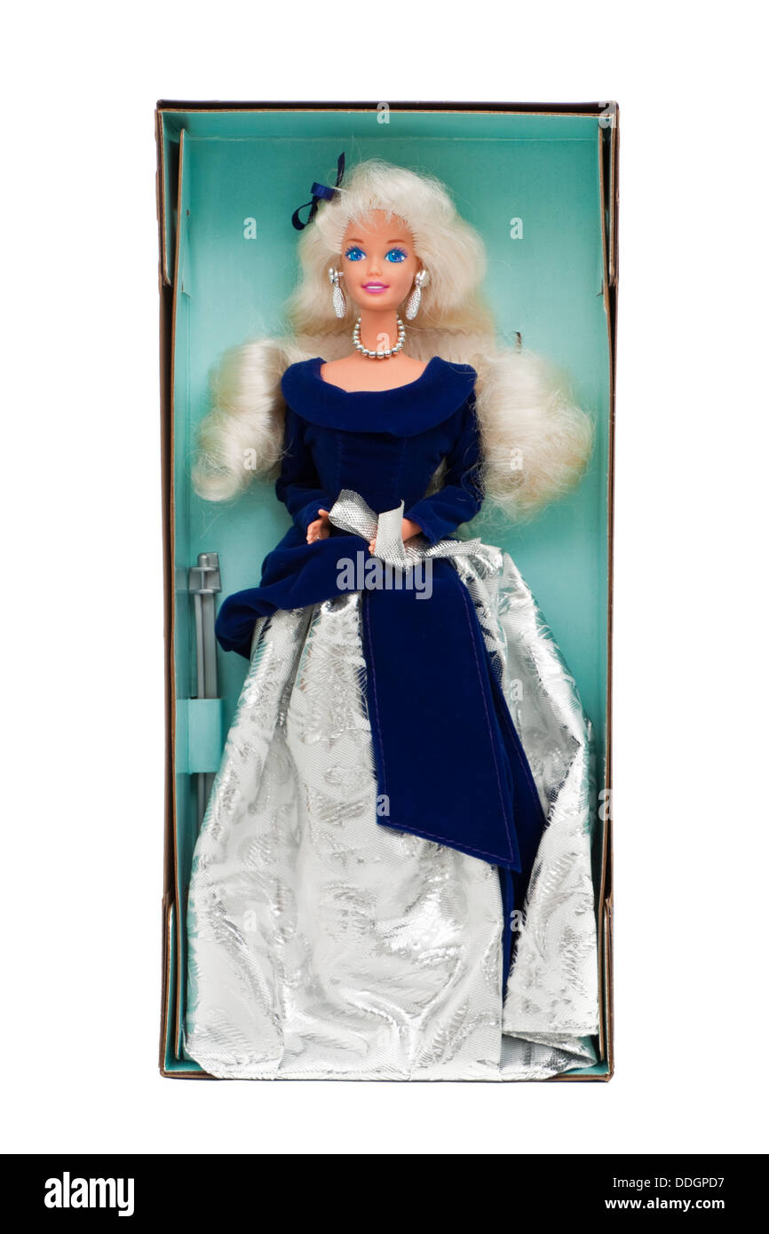 1995 'Winter Velvet' Barbie Doll (Exclusive Avon Special Edition) by Mattel (No 15571) - Stock Image
