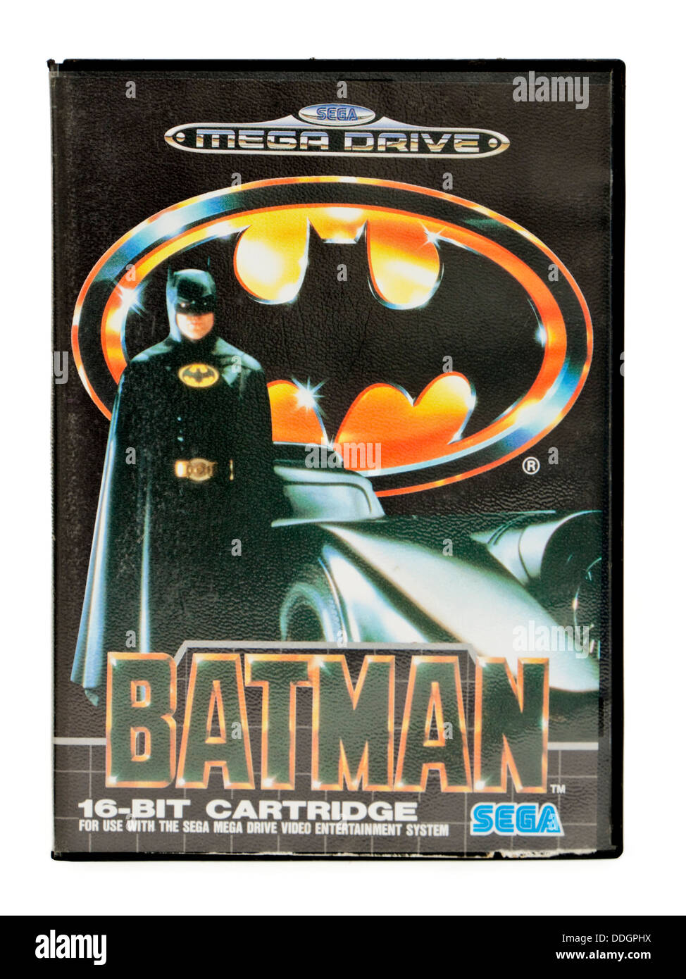"""Vintage 1990's Sega Mega Drive """"Batman"""" video game Stock Photo"""