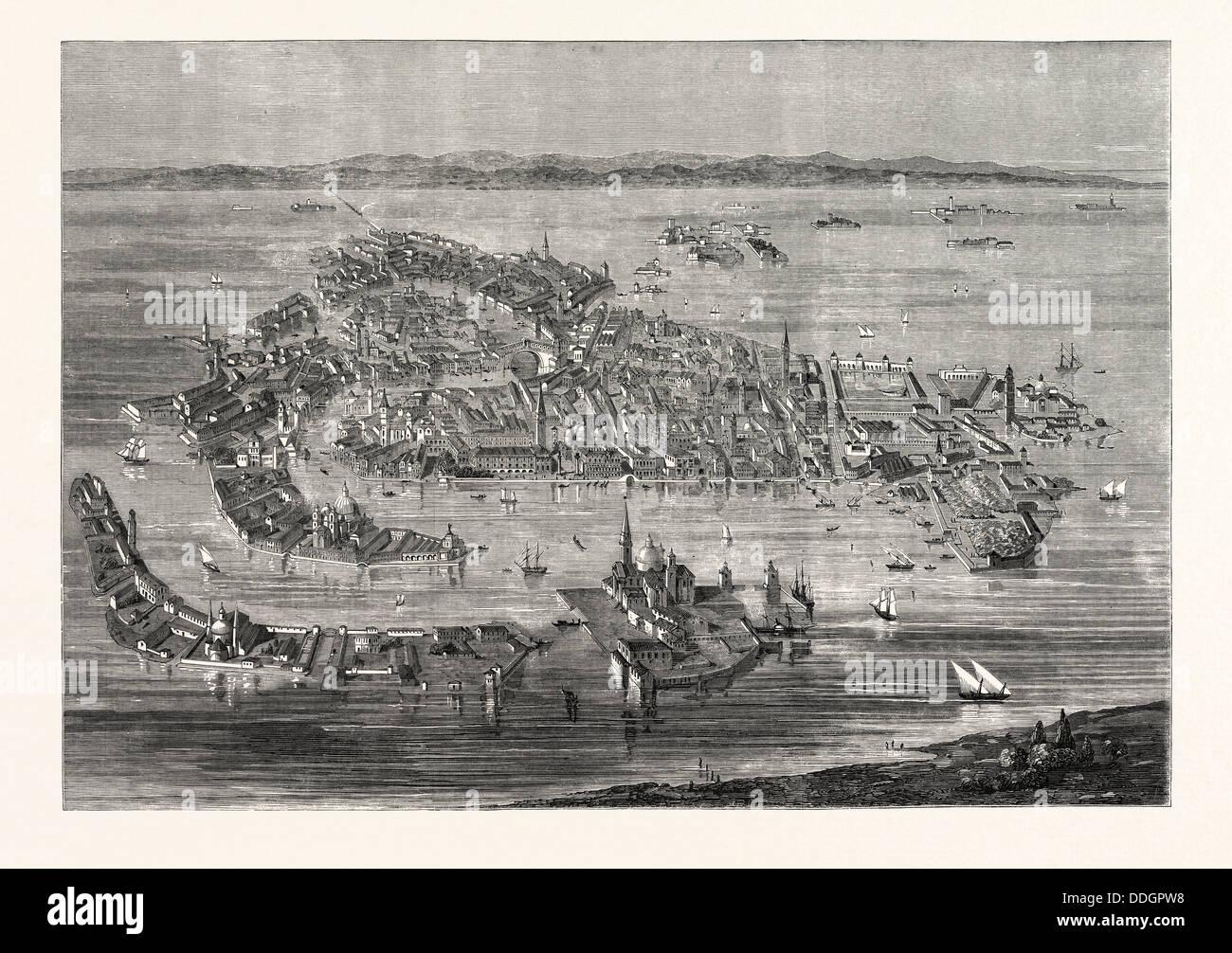 VENICE, 1859 - Stock Image