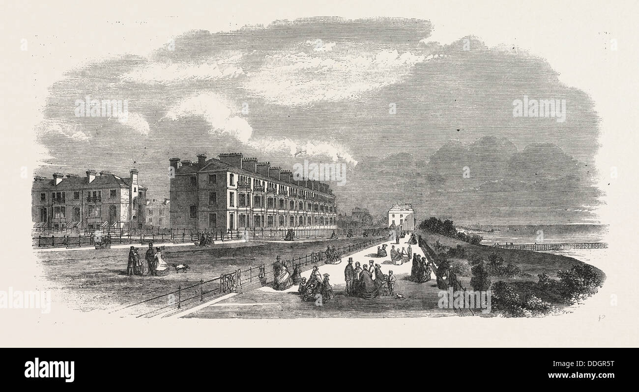 IMPROVEMENTS AT SOUTHEND, ESSEX: PART OF THE NEW SUBURB CALLED CLIFFTOWN, UK, 1861 - Stock Image