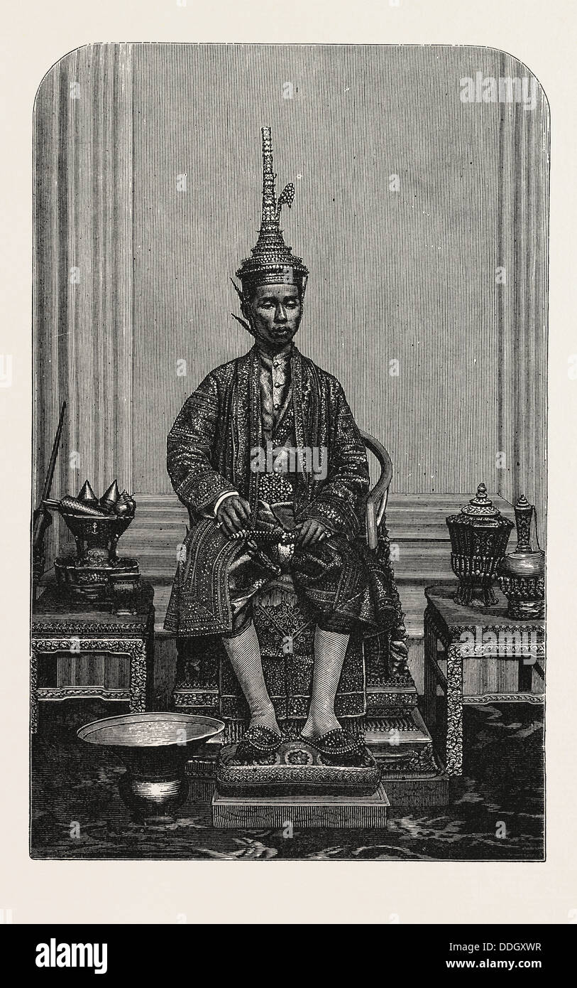THE SUPREME KING OF SIAM IN HIS STATE ROBES Stock Photo
