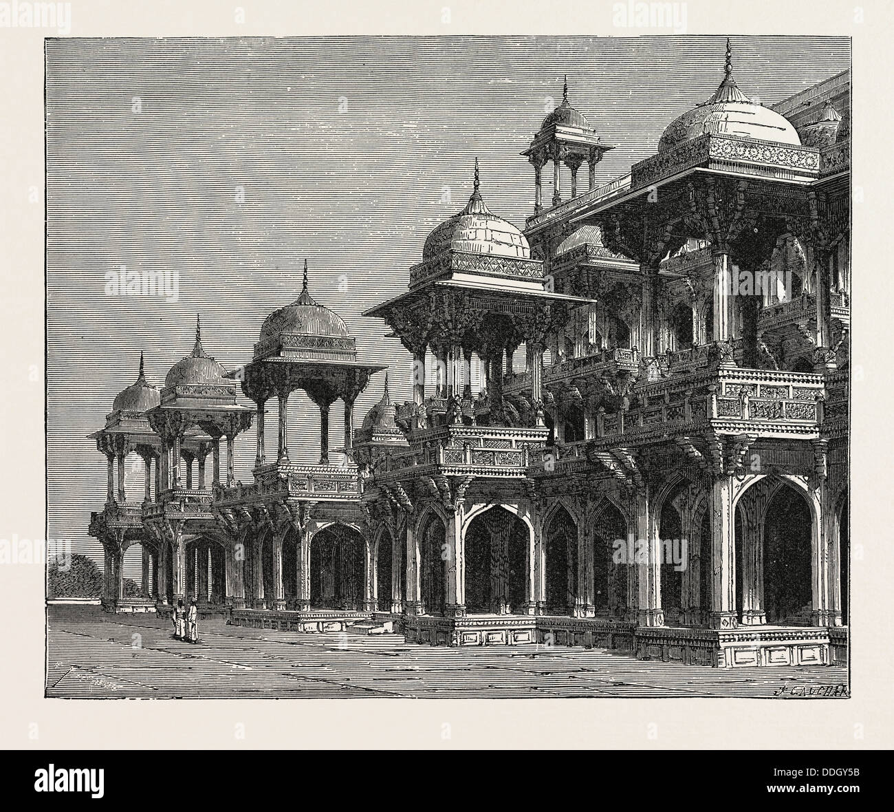 THE MAUSOLEUM OF THE EMPEROR AKBAR, AT SIKANDRA, A SUBURB OF AGRA CITY. - Stock Image