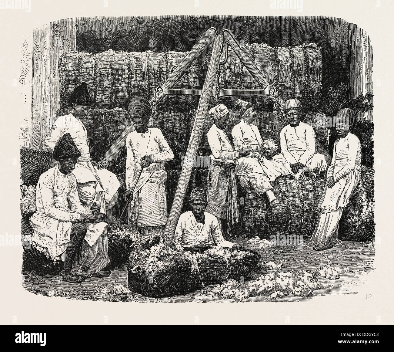 PARSEE COTTON MERCHANTS OF BOMBAY, INDIA - Stock Image
