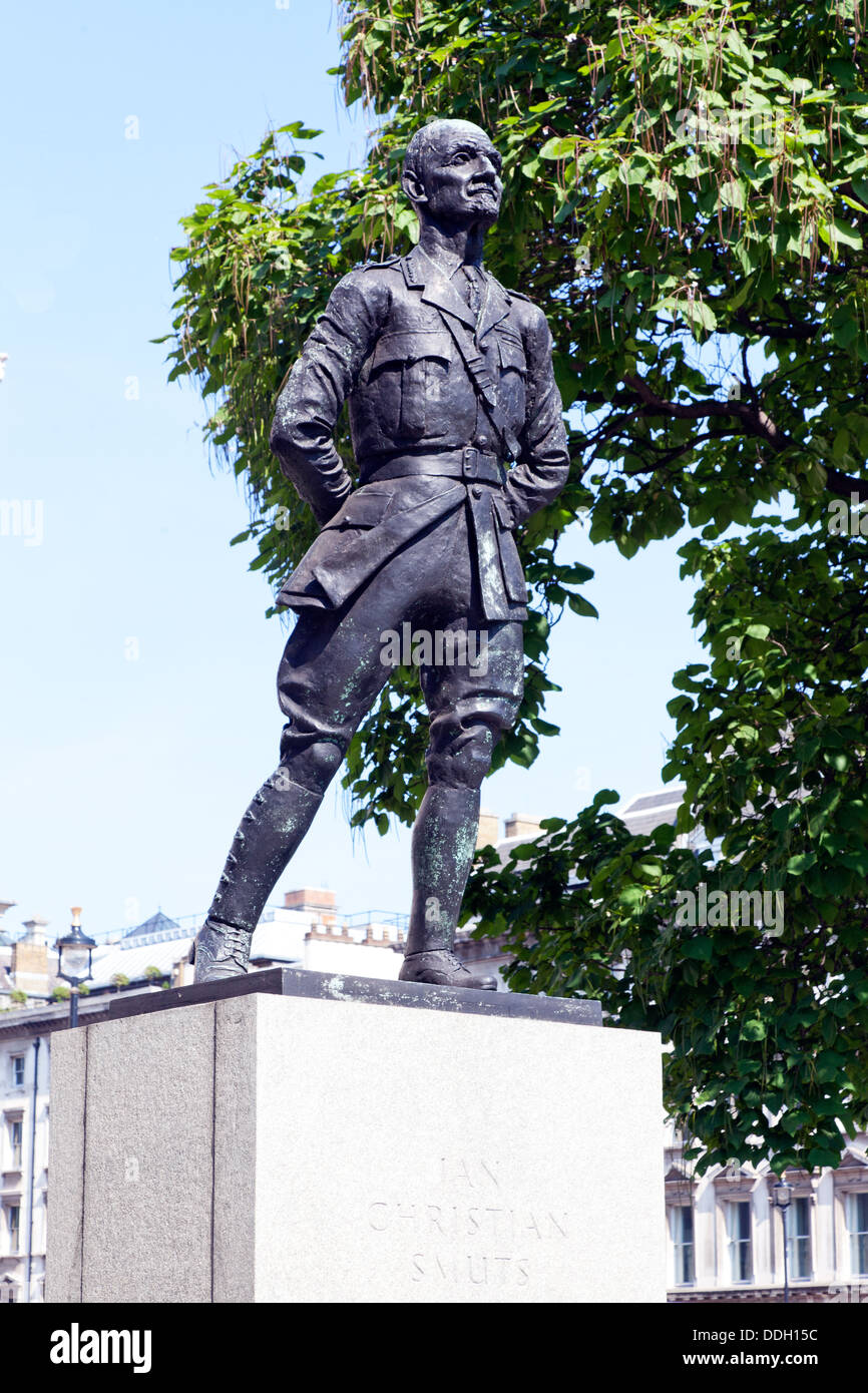 Statue Of   Ian Christian Smuts Parliament Square London UK - Stock Image