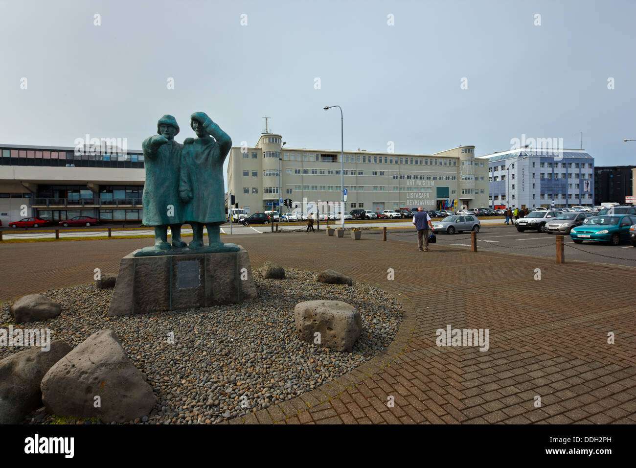 Fisherman sailors statue, Reykjavik, Iceland - Stock Image