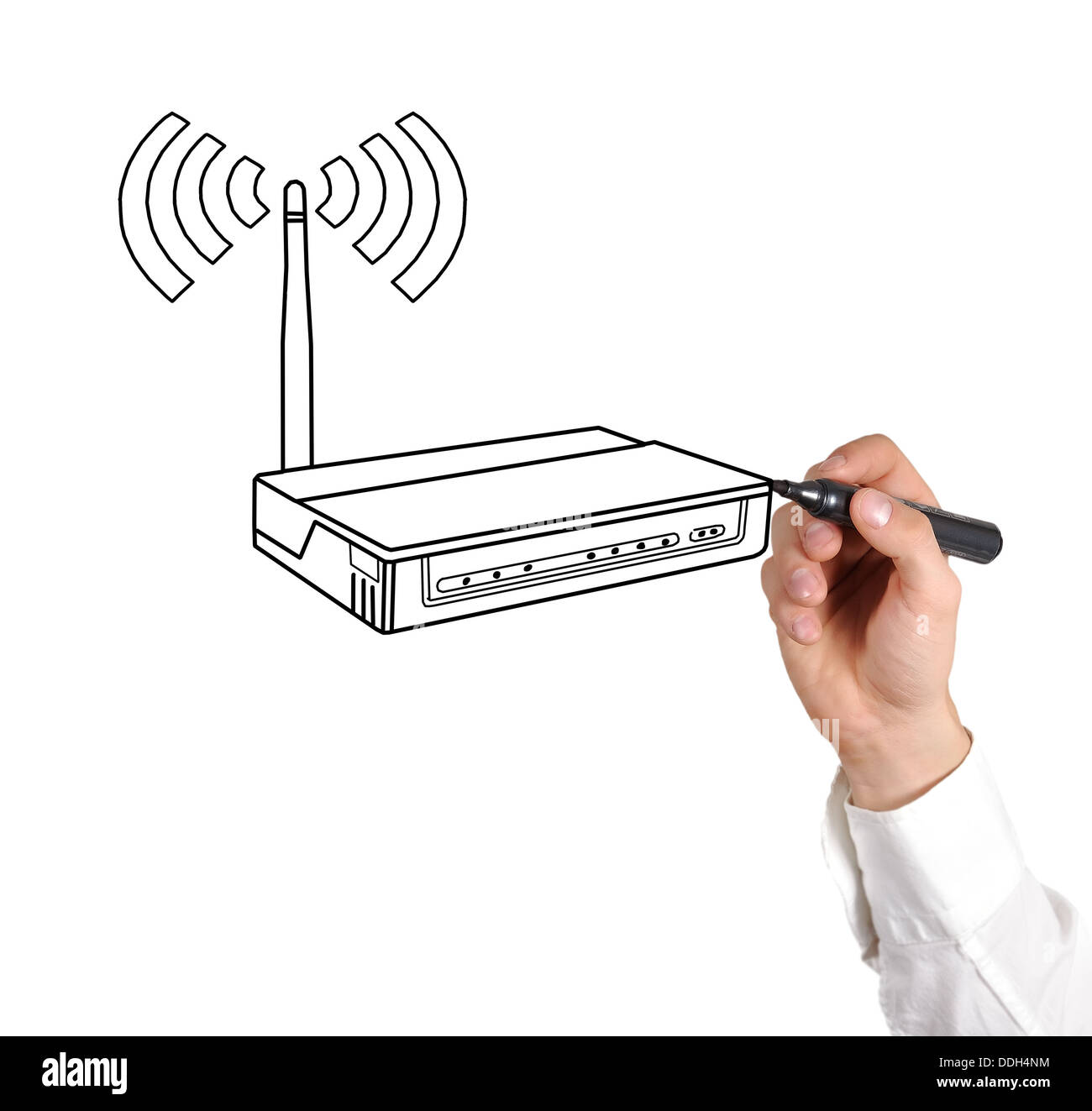 drawing router - Stock Image