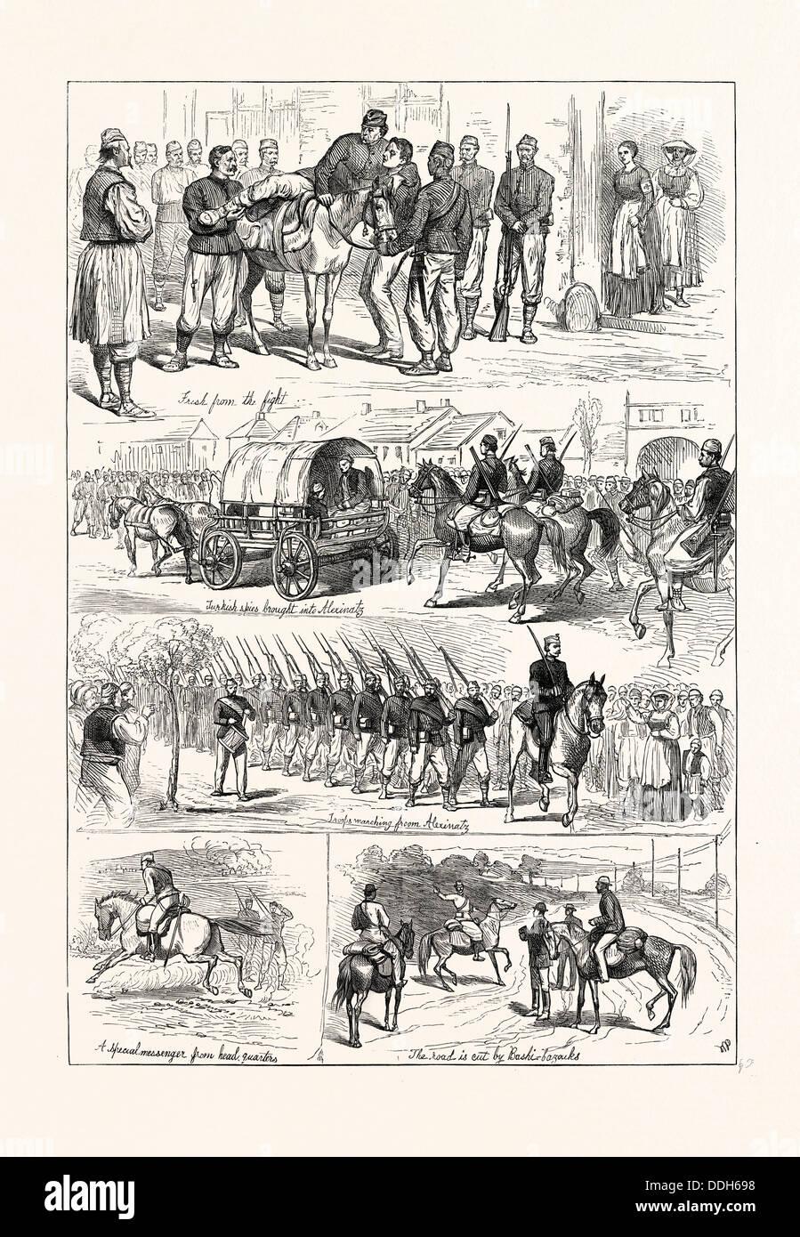 THE WAR: NOTES AT ALEXINATZ - Stock Image