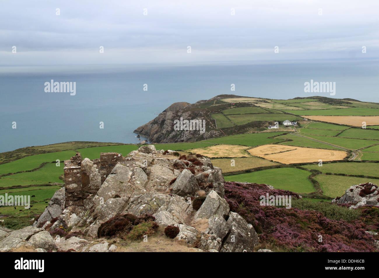 Pen Caer peninsula from Garn Fawr Iron Age Hillfort, Pembrokeshire, Wales, Great Britain, United Kingdom, UK, Europe - Stock Image