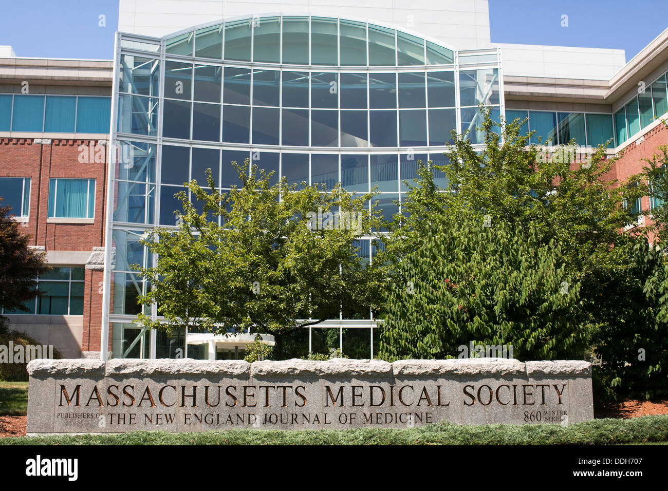 The headquarters of the Massachusetts Medical Society, the publisher of the New England Journal Of Medicine.  - Stock Image