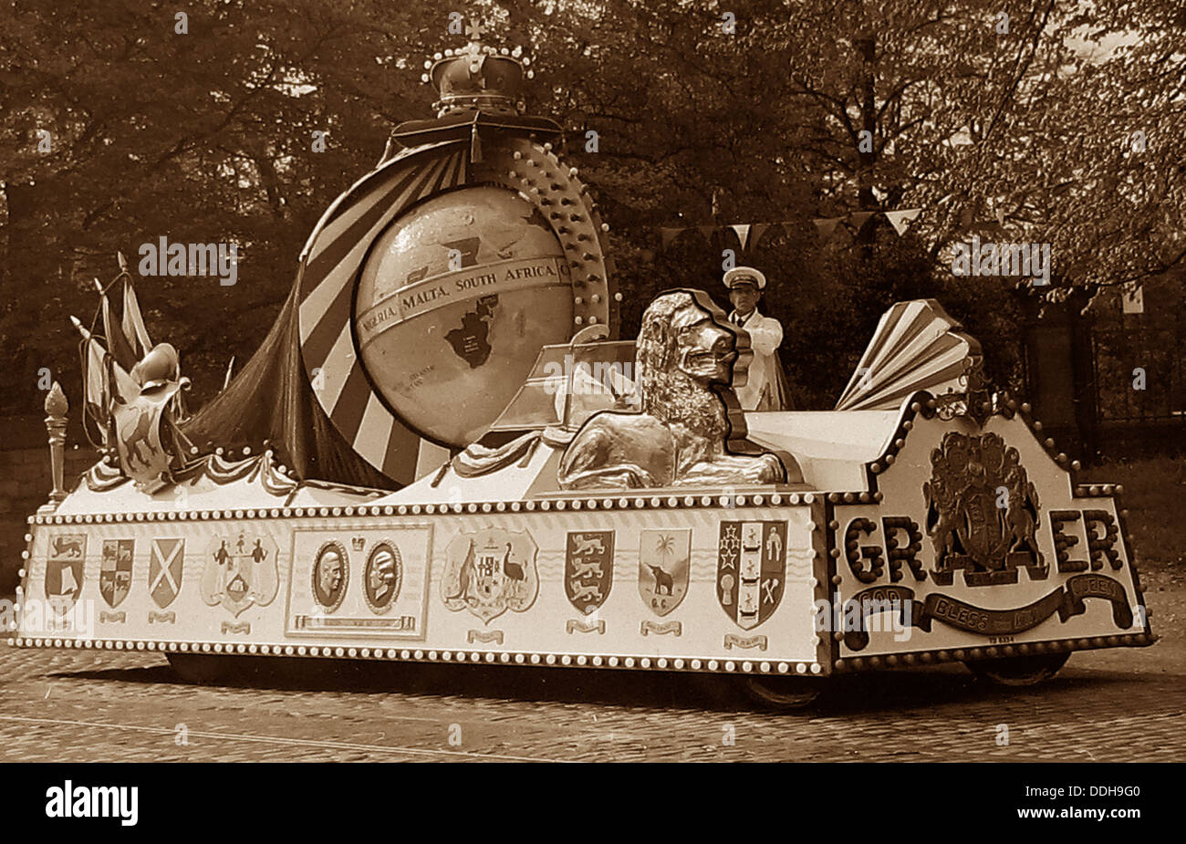 Burnley Coronation Tram in 1937 - Stock Image