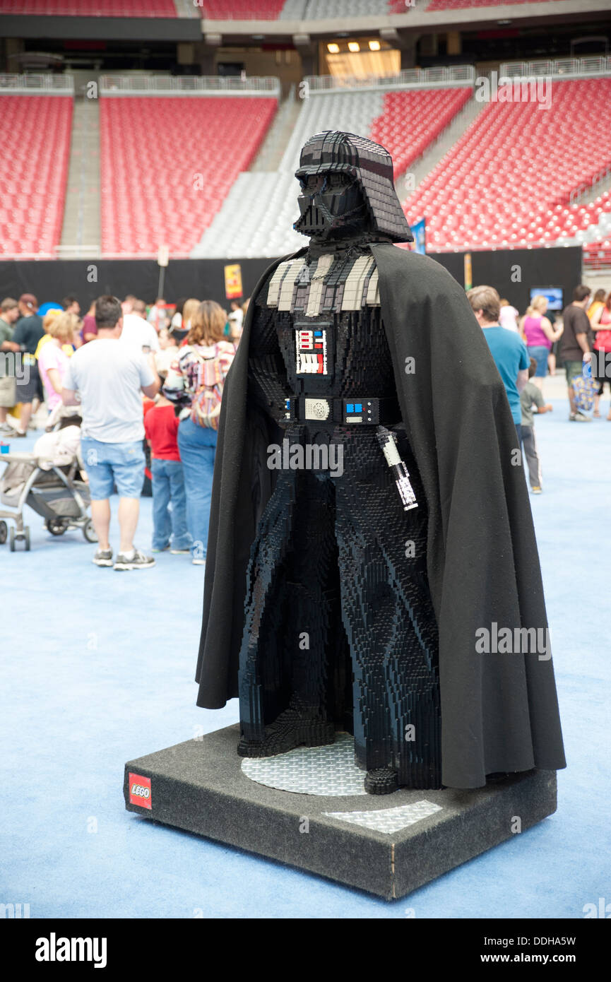 Darth Vader Lego creation at the Lego KidsFest in Phoenix Arizona USA & Darth Vader Lego creation at the Lego KidsFest in Phoenix Arizona ...