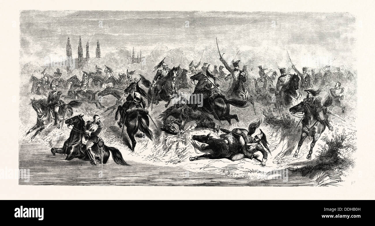 FRANCO-PRUSSIAN WAR: THE BATTLE OF BEAUMONT, AUGUST 30 1870 - Stock Image