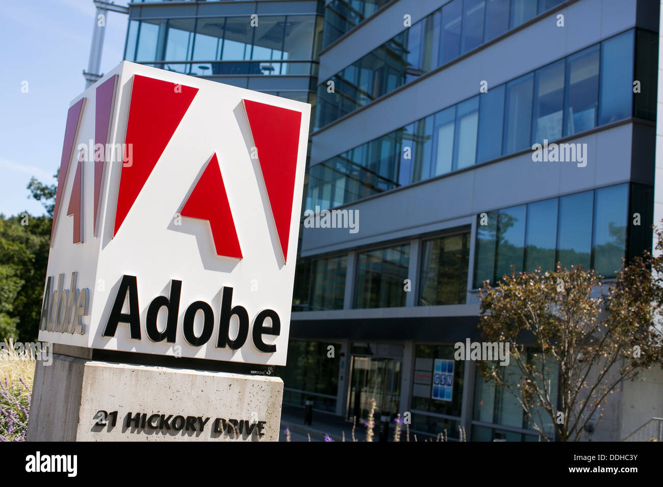 An office building occupied by Adobe Systems.  - Stock Image