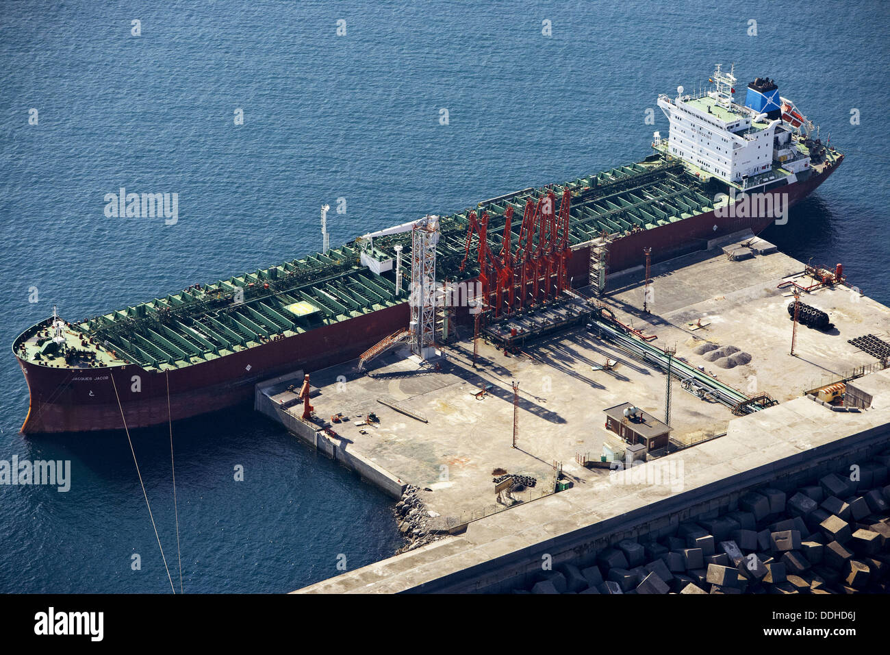 Oil tanker, Port, Bilbao, Biscay, Basque Country, Spain - Stock Image