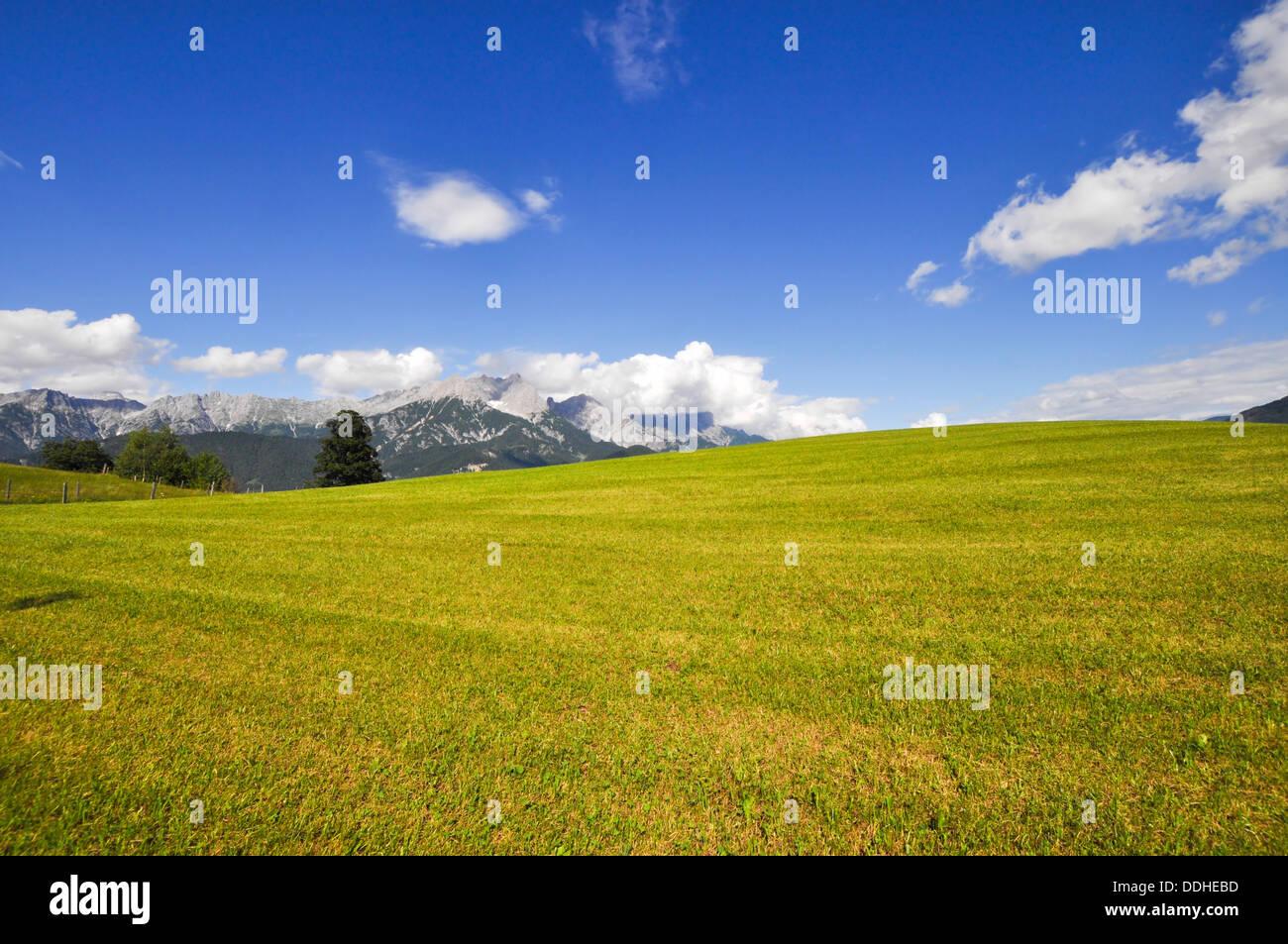 Saalfelden landscape Stock Photo