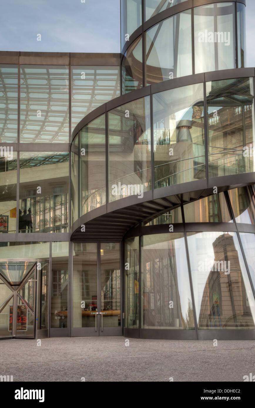 Deutsches Historisches Museum modern entrance, Berlin, Germany - Stock Image