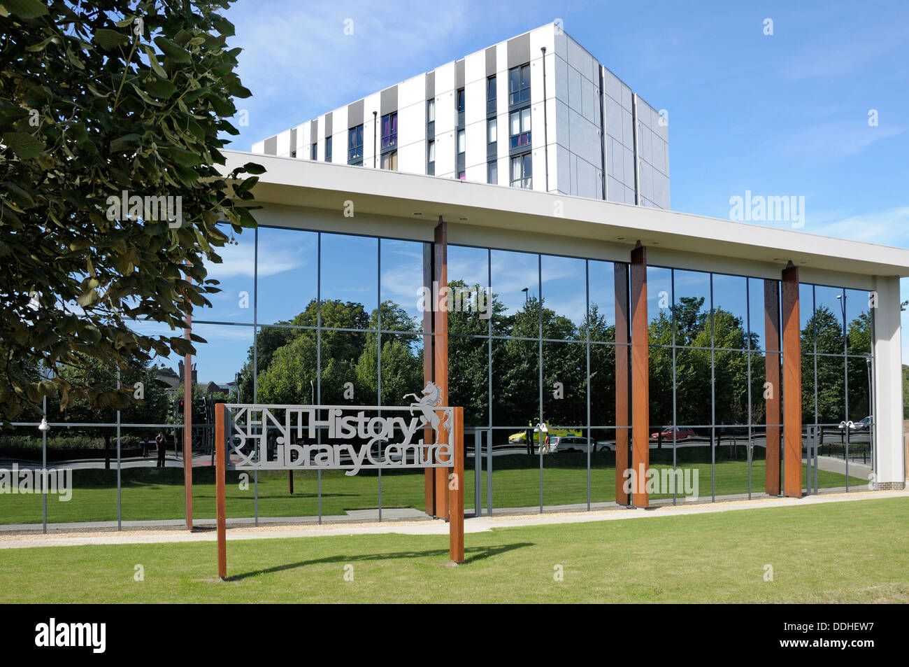 Maidstone, Kent, England, UK. Kent History and Library Centre (opened 2012) - Stock Image