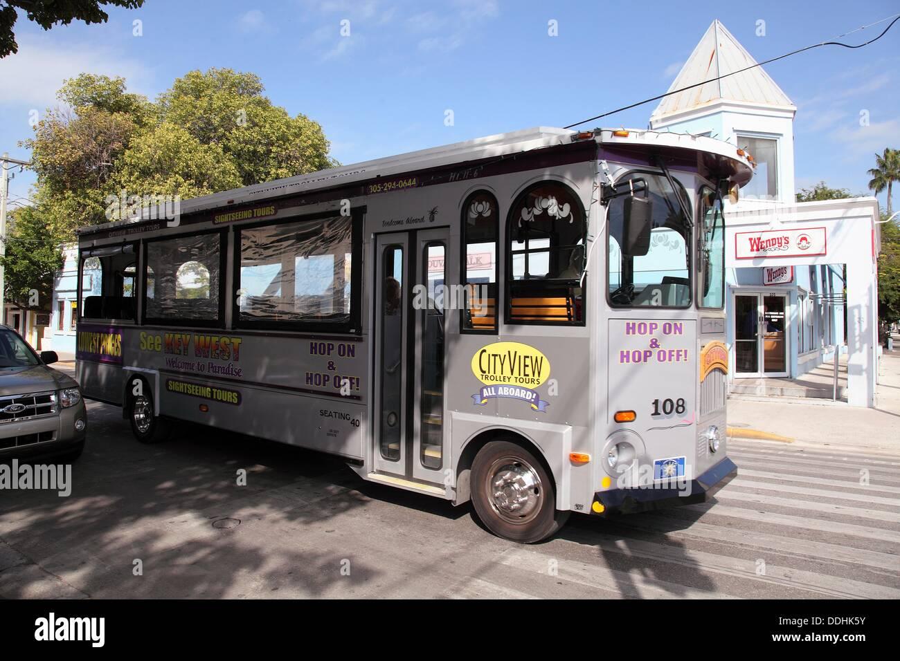 Public Transportation, Key West, Florida, USA - Stock Image