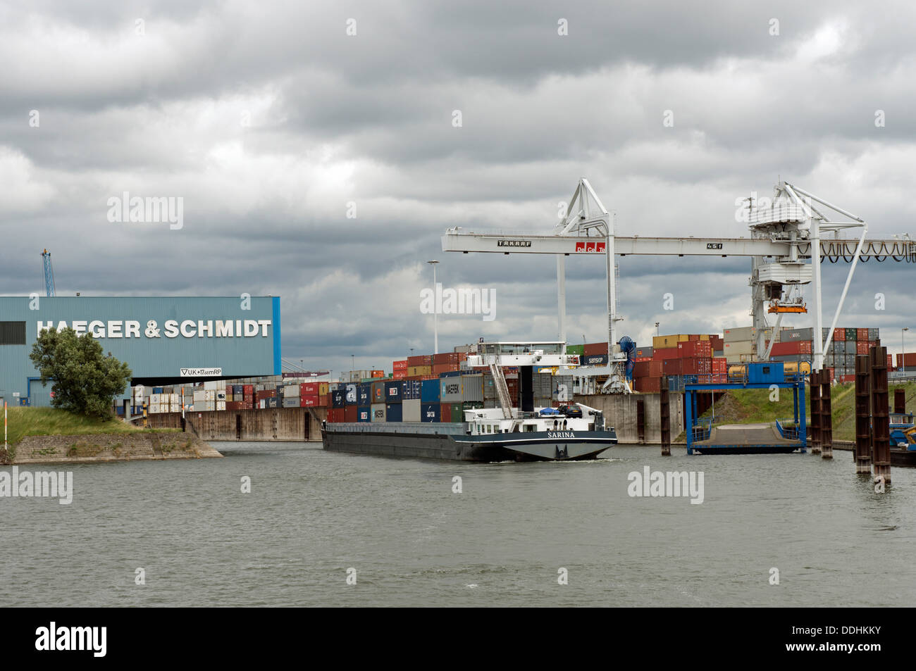Duisport, Duisburg, Germany. - Stock Image