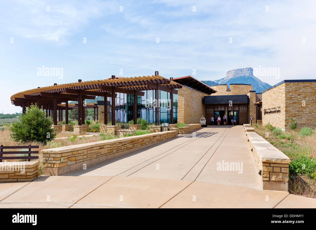 The Visitor Center at Mesa Verde National Park, Cortez, USA - Stock Image