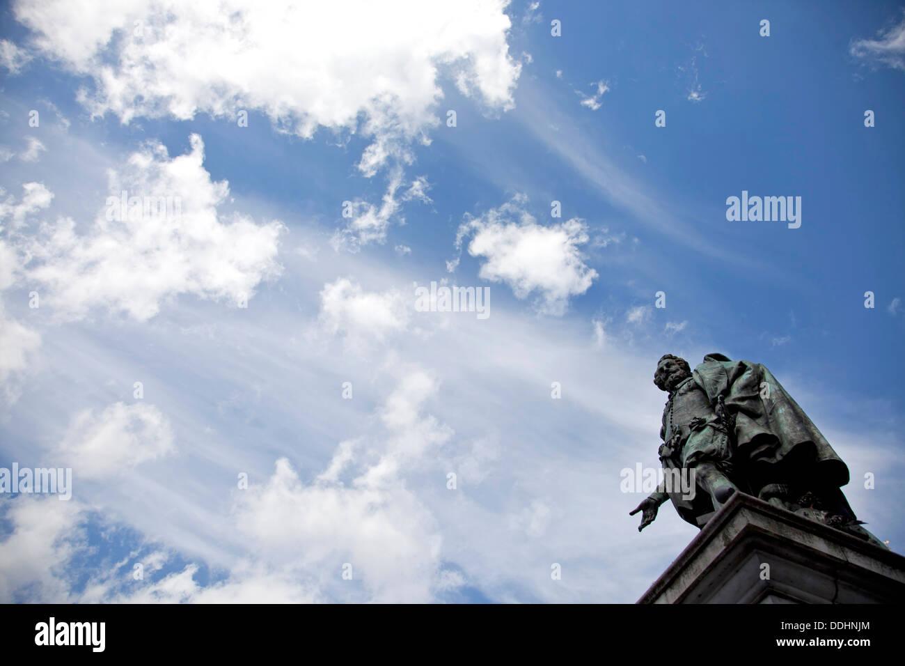 statue of Peter Paul Rubens on Groenplaats square in Antwerp, Belgium, Europe - Stock Image