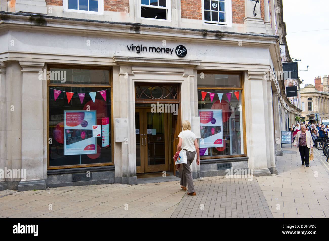 VIRGIN MONEY high street bank in the city centre of York North Yorkshire England UK - Stock Image
