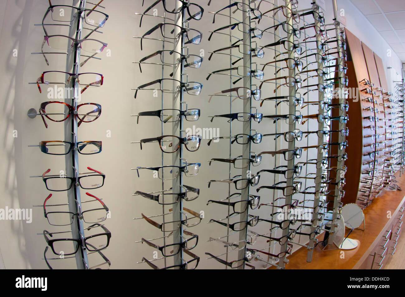 Opticians Spectacle Frame Display - Stock Image