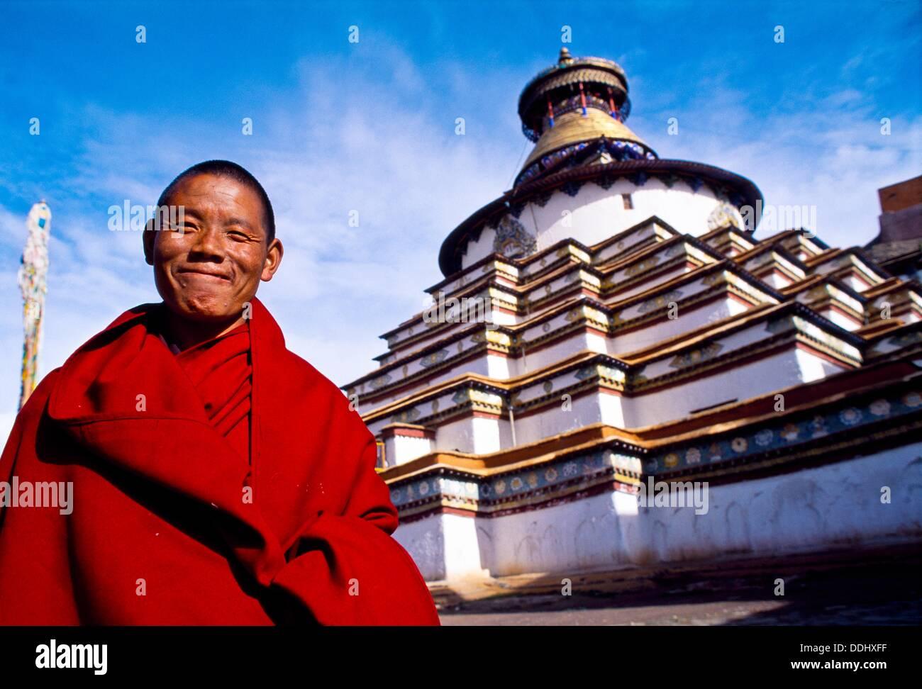 The Kumbum Stupa in Gyantse  Tibet´s largest  Pelkor Chode Monastery  Gyantse  Tibet  China. - Stock Image