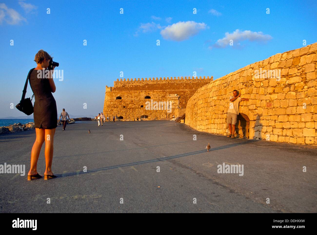 Venetian fortress Koules Castle,S  XVI, Iraklio, Crete, Greece. - Stock Image