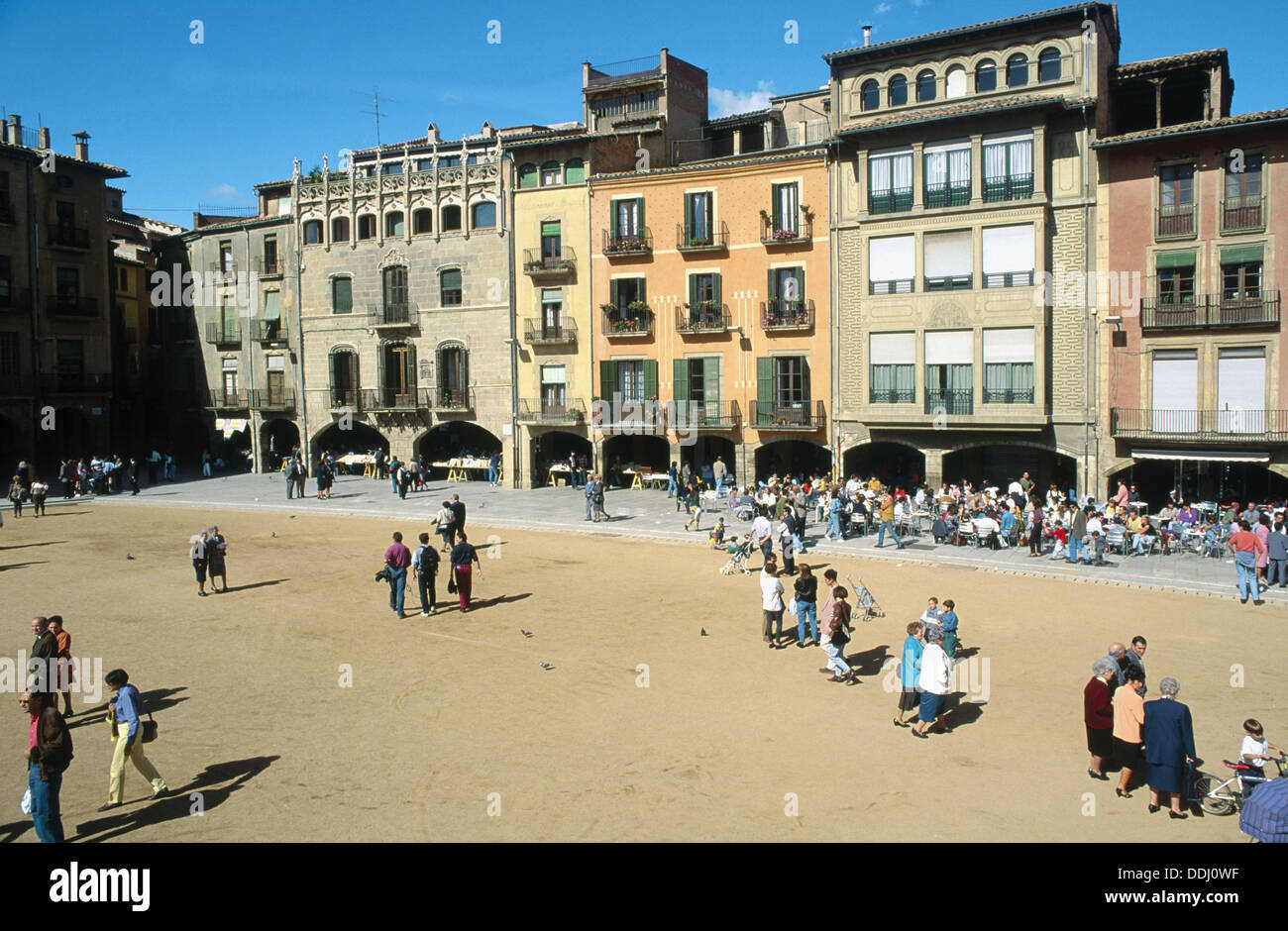 Plaza Mayor. Vic. Osona. Barcelona province, Catalonia, Spain - Stock Image