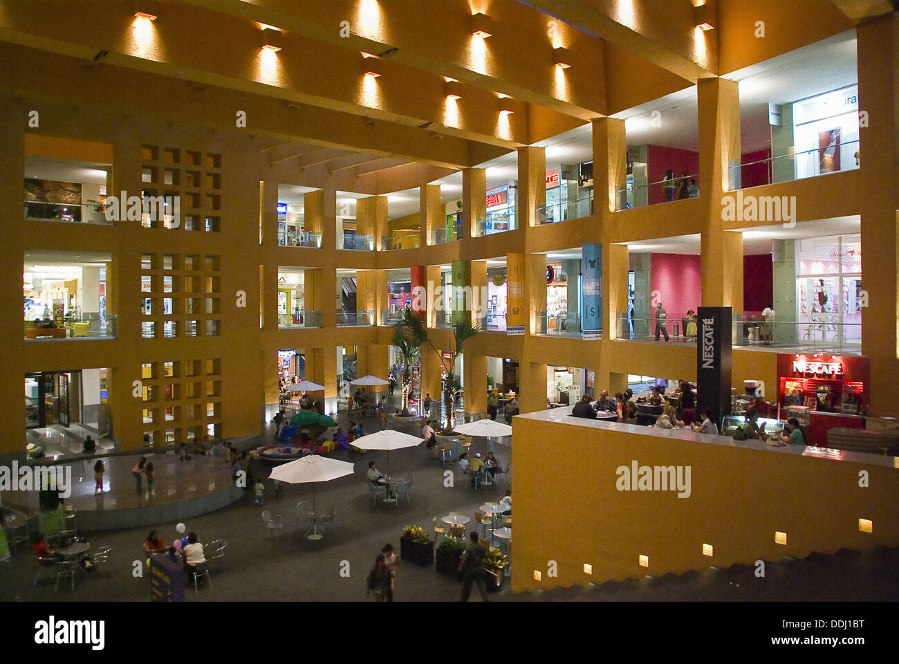 San Salvador city., Shopping Center Mall Multiplaza of the Mexican architect Ricardo Legorreta.