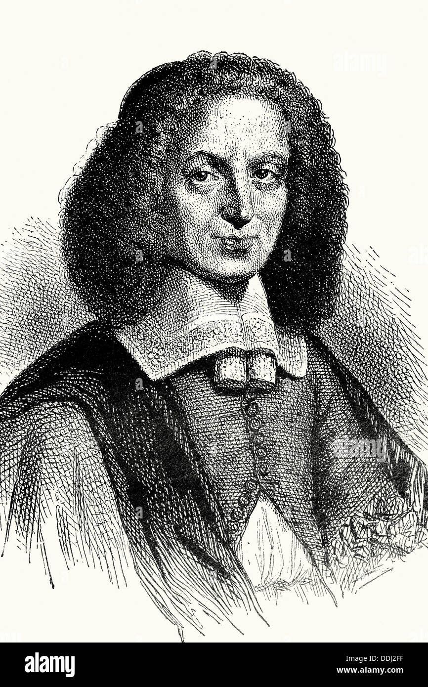 Huygens, Christiaan (1629-1695) Dutch mathematician, astronomer and physicist. Old illustration. (El Mundo físico, Amadeo - Stock Image
